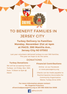 Turkey Drive Event Flyer