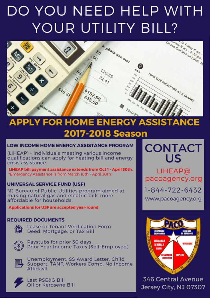 Home Energy Assistance Program (LIHEAP) - PACO | Puertorriquenos ...