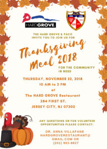 Thanksgiving Meal 2018 flyer info