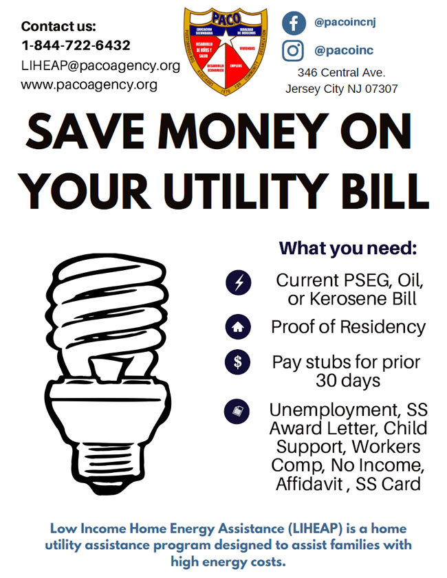 Home Energy Assistance Program (LIHEAP) - PACO | Puertorriquenos