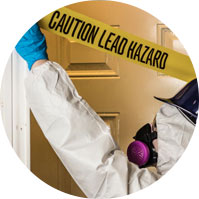 Caution lead hazard